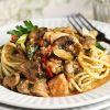Thumbnail image for Chicken, Sausage, Asparagus and Mushroom Pasta from  Grace-Marie's Kitchen at Bristol Farms