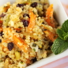 Thumbnail image for Quinoa Salad with Pistachios, Currants and Dried Apricots Kissed with Orange, Rice Vinegar and Sesame Oil