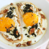 Thumbnail image for Baked Eggs with Goat Cheese & Basil-Mint Pesto
