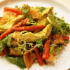 Thumbnail image for Cumin Garlic Roasted Carrots & Avocado Salad with Citrus Dressing, Arugula and Sesame Seeds