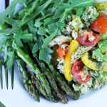 Thumbnail image for Exquisite Salad ~ Rice, Chicken, Asparagus, Avocado with Cilantro Puree Vinaigrette