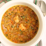 Thumbnail image for Yellow Split Pea Soup with Shrimp and Ham