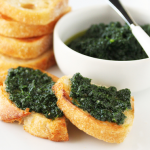 Thumbnail image for Garlic Buttered Crostini with Rustic Kale Pesto