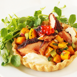 Thumbnail image for Blackened Salmon Tarts With Mango Salsa