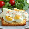 Thumbnail image for Hard-Cooked Eggs on Toast with Béchamel Sauce