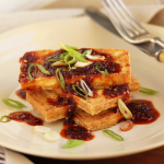 Thumbnail image for Fried Tofu and Spicy Korean Red Pepper Sauce with Gochugaru, Ginger and Sesame