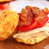 Thumbnail image for Turkey Bacon Tomato on Cheddar Biscuits