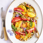 Thumbnail image for Flageolet, Nectarine & Tomato Salad with Lime, Ginger & Pistachios