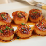 Thumbnail image for Grilled Scallops with Red Yuzu Kosho Vinaigrette