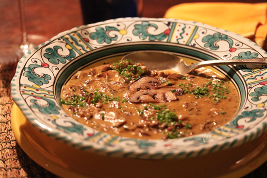 Post image for Mushroom Soup and The Tin Roof Bistro