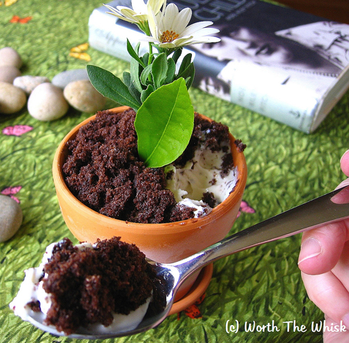 Post image for Guest Post by Patti Londre at Worth the Whisk: Flower Pot Ice Cream Sundae