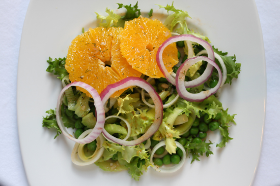 Post image for Orange, Pea and Leek Salad