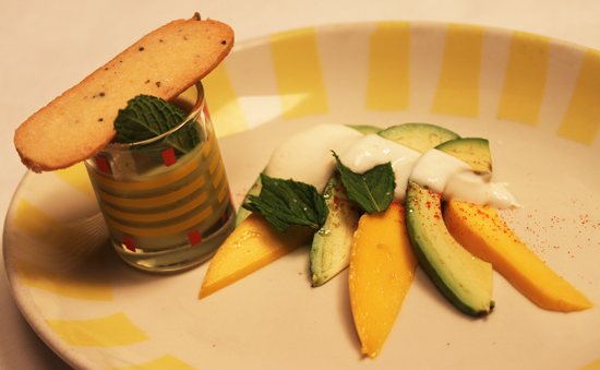California Avocado and Mango with Avocado and Orange Liquado