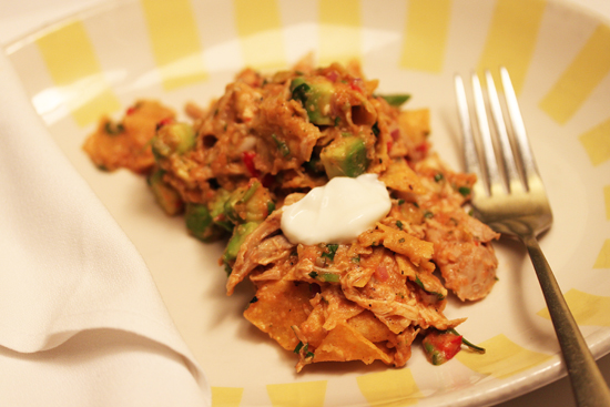 Chicken and California Avocado Skillet Chilaquiles