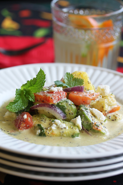 Post image for Fiesta Papaya, Pineapple and Avocado Salad from Grace-Marie's Kitchen