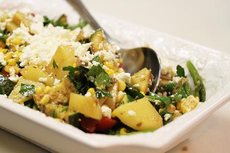 California Grilled Vege Picnic Salad 4