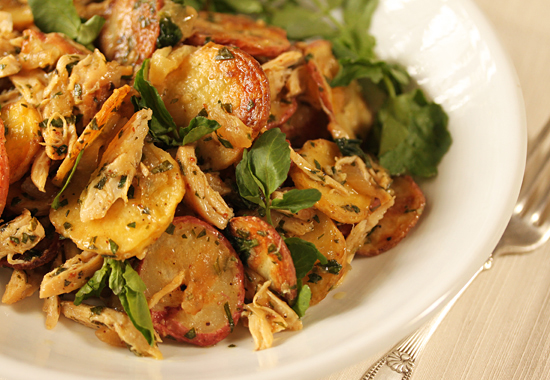Post image for Chicken and Potato Crisp Salad with Watercress