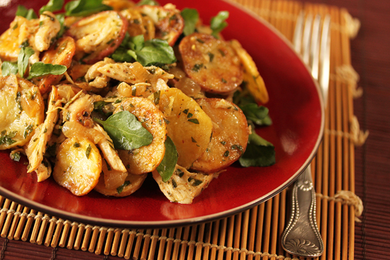 Chicken Potato Salad with Watercress