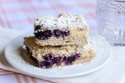 Maine Blueberry and Lemon Cream Bars