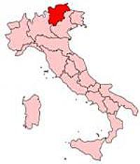 Italy Regions Trentino-Alto Adige Map