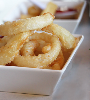 Malt Liquor Tempura Onion Rings
