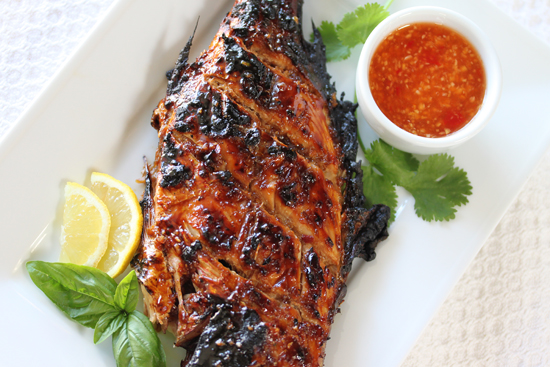 Grilled Whole Red Snapper with Ginger Sweet Chili Sauce 2