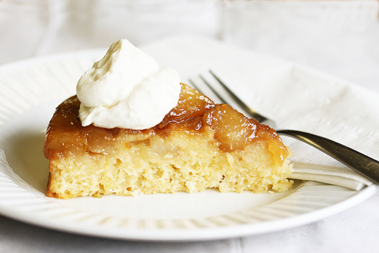Autumn Harvest Brandy Pear Cake