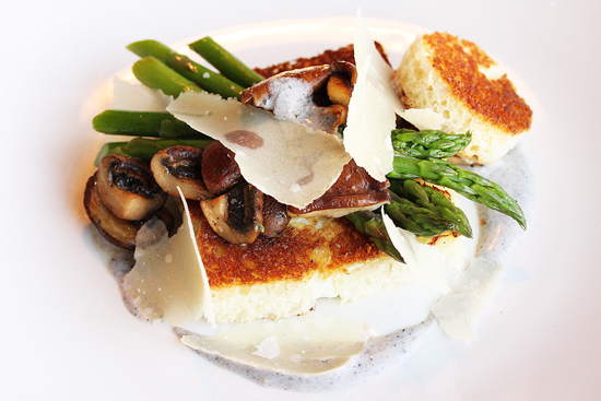 Baleen 10 - Hole in One with Asparagus, Mushrooms & Truffle Vinaigrette