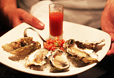 Baleen 13 - Cold Water OYsters with Watermelon Relish