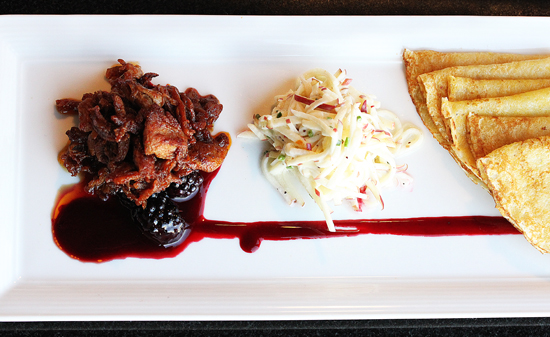Baleen 5 - Duck Carnitas with Chipotle Blackberry Sauce