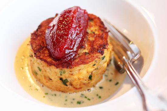 Baleen 8 - Dungeness Crab Cake, Lobster Sauce & Tomato Jam