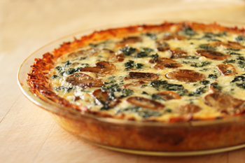 Mushroon and Spinach Quiche with Shredded Potato Crust 3