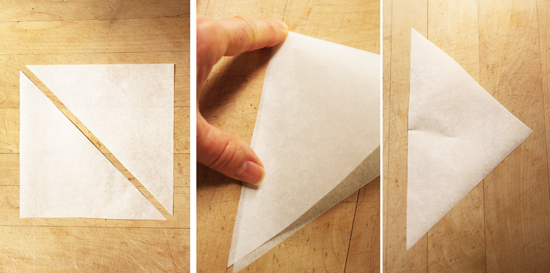 how to cut parchment paper to cirlse