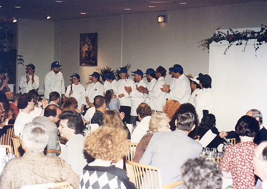 Cudos to the Chefs and a Speech