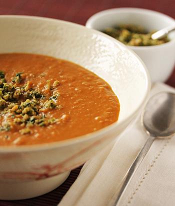 Sweet Potato Soup with Thai Pesto 2