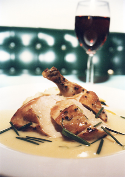 Tender Breast of Herbed Chicken with Beurre Blanc