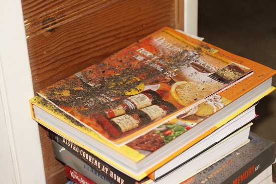 2 Stack of cookbooks in my office
