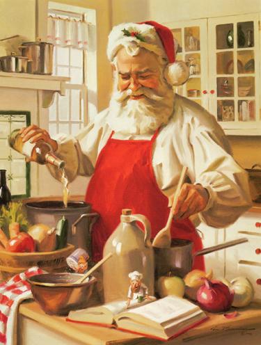 Santa Cooking