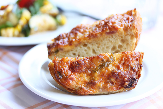 Gooey Cheddar  Cheese Bread from Grace-Marie's Kitchen