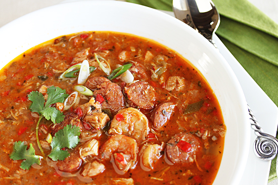 Chicken & Andouille Sausage Gumbo Recipe — Dishmaps
