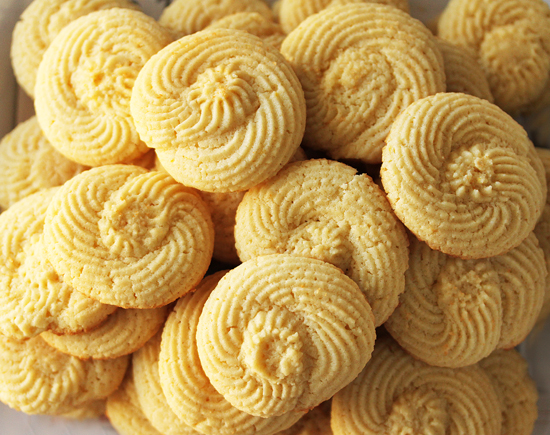 Twirly Lemon Butter Cookies