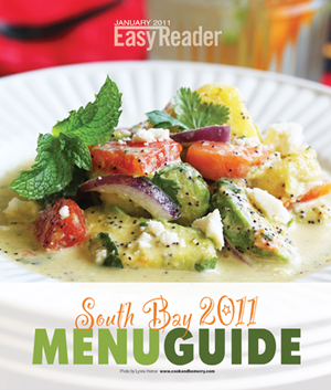 Easy Reader Beach Magazine Menu Guide Cover 1.26.11
