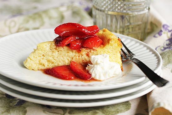 Post image for Strawberry Glazed Italian Ricotta Cheesecake from Grace-Marie's Kitchen at Bristol Farms