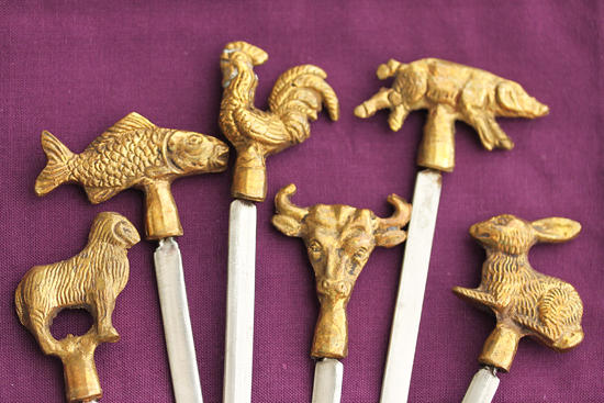 Animal Head Skewers