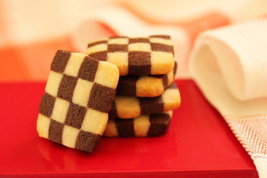 Post image for Black and White Checkerboard Cookies