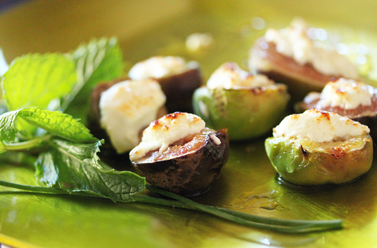 Roasted California Figs with Goat Cheese & Truffle Honey 11