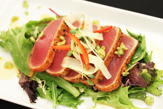 Seered Spice Tuna Salad with Citrus Mango Viniagrette from Starry Kitchen