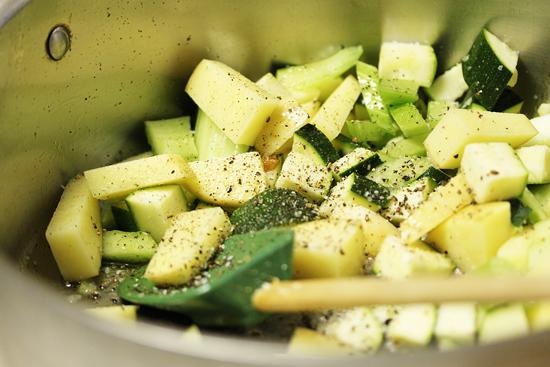 Chopped Leeks.Potatoes.Zucchini 3