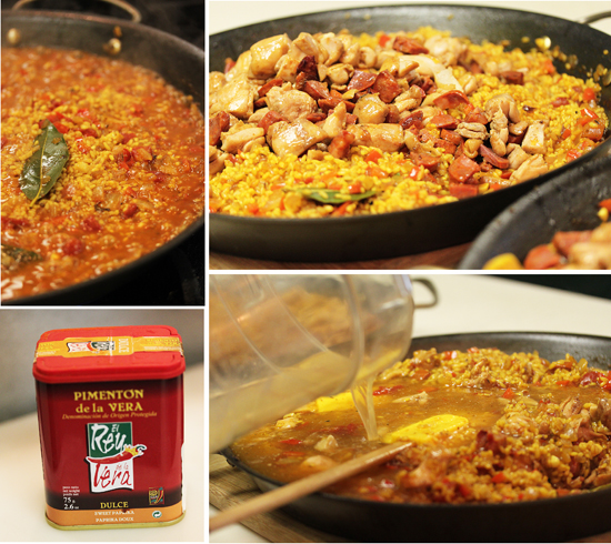 Paella with Chicken and Chorizo 4