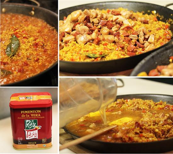 Paella with Chicken and Chorizo 4